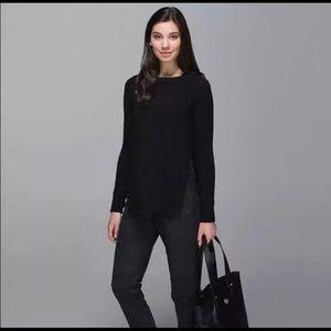Lululemon Yin To You Black Crop Sweater Size 8